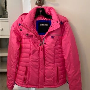 Pink puffer style jacket